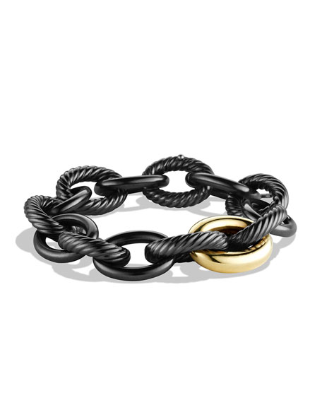 David Yurman Oval Extra-Large Bracelet with Gold