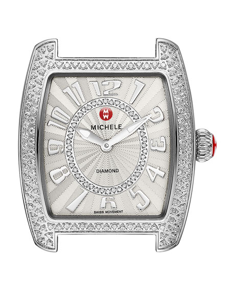 MICHELE Urban Mini Diamond Stainless Watch Head