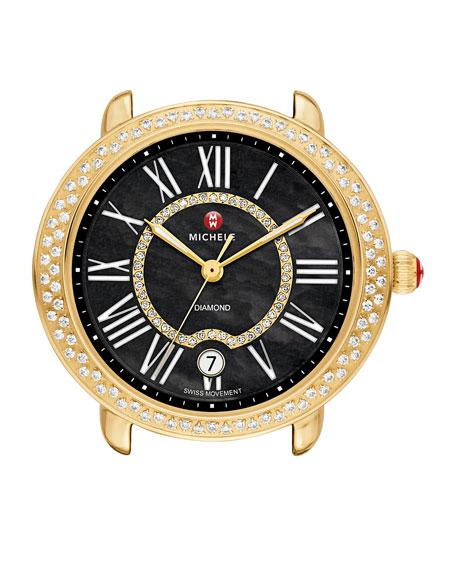 MICHELE Serein 16mm Diamond Gold Plated Watch Head,