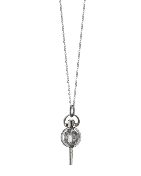 "Mini Silver Carpe Diem Pendant Necklace, 17""L"