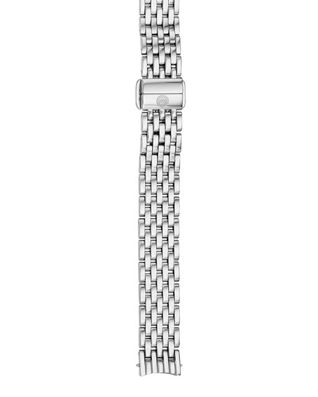 MICHELE 12mm Serein Stainless Steel 7-Link Bracelet