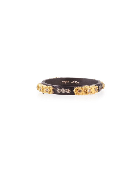 Stackable Ring with Champagne Diamonds, Size 6.5