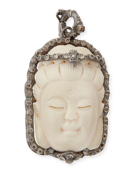 Armenta Bone Buddha Enhancer with Champagne Diamonds