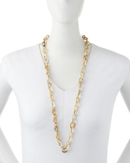 "Mini Mara Light Horn Necklace, 35"""