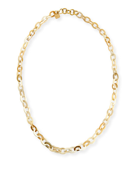 Ashley Pittman Mini Mara Light Horn Necklace, 35