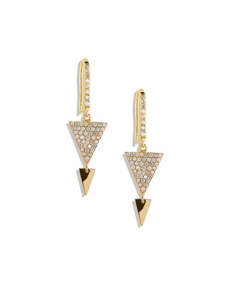 Fatale Spike Earrings with Diamonds