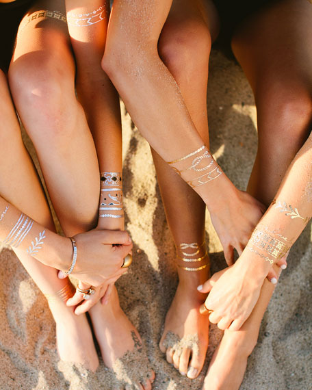 Lulu DK Love Story Jewelry Metallic Temporary Tattoos