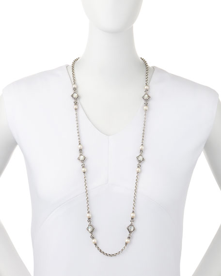 Konstantino Pearl & Mother-of-Pearl Long Necklace