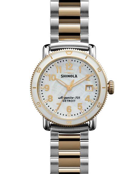 36mm Runwell Sport Two-Tone Watch, White