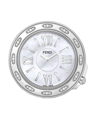 37mm Fendi Selleria Stainless Steel & Diamond Watch Head