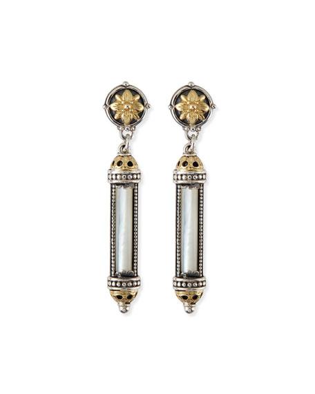 Konstantino Silver & 18k Gold Mother-of-Pearl Earrings