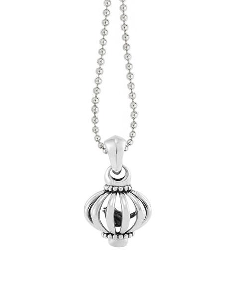 "Medium Birdcage Pendant Necklace, 36""L"
