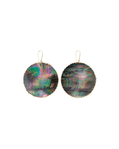 Lana Large Mystiq Mother-of-Pearl Disc Earrings