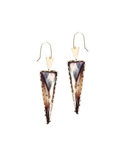 Lana Mystiq Double Spike Mother-of-Pearl Earrings