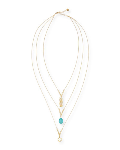 Bahia Triple-Strand Long Necklace