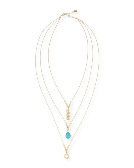 Bahia Triple-Strand Long Necklace