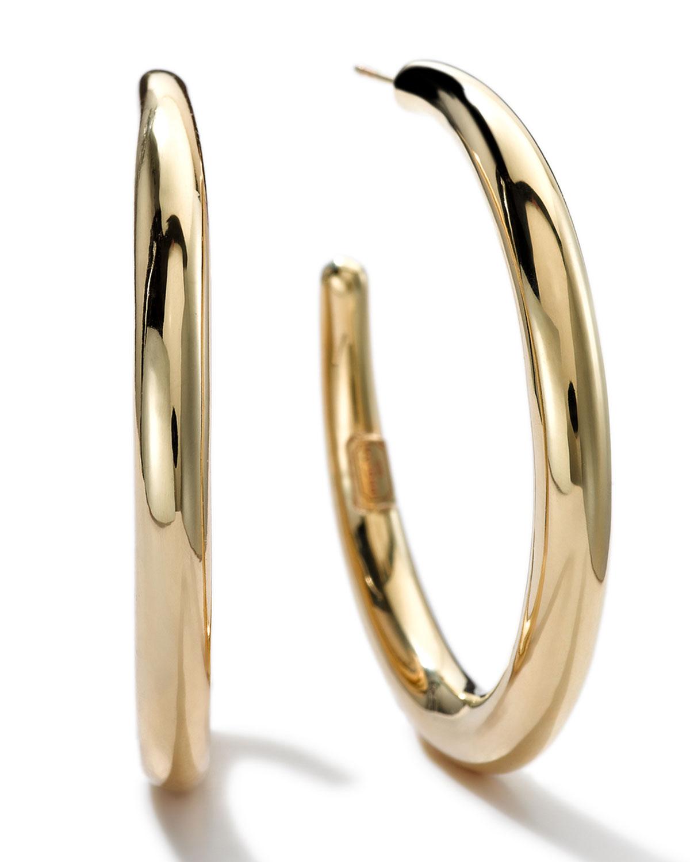 Ippolita 18K Glamazon Thick Small Flat Hoop Earrings TDQnI