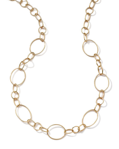 Ippolita 18k Gold Glamazon Link Necklace with Seven