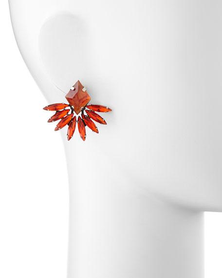 Jovana II Red Crystal Stud Earrings