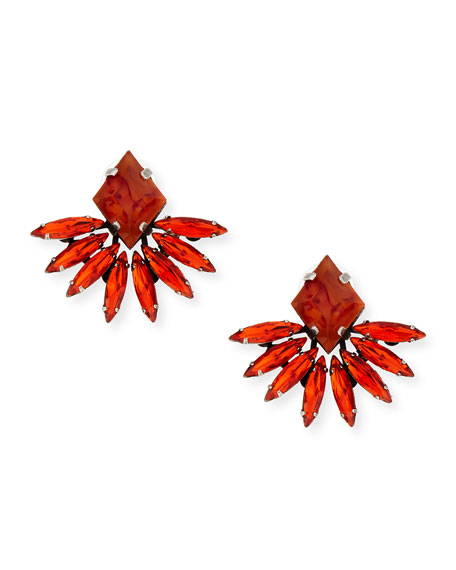 Jovana II Red Crystal Stud Earrings