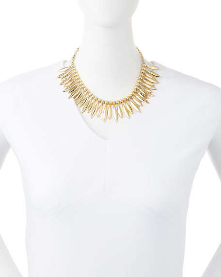 Tribal Statement Necklace, Golden