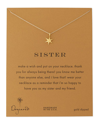 Sisters Wishing Star Gold-Dipped Necklace