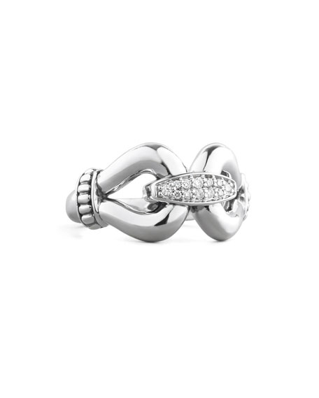 Lagos Diamond Derby Ring, Silver