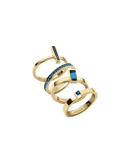 Golden Montana Stone Stackable Rings Set