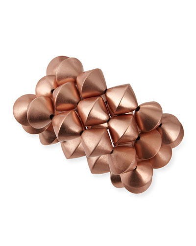 Rose Gold-Plated Stretch Bead Bracelets, Set of 3