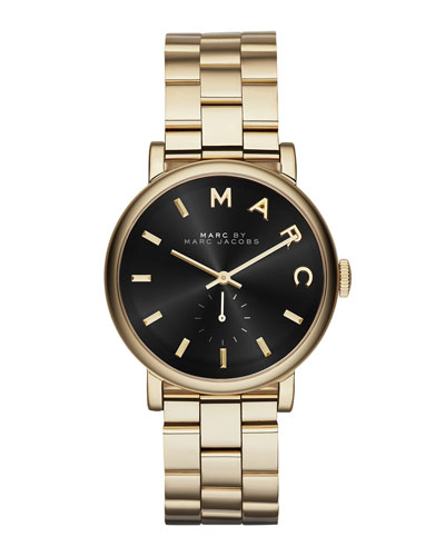 36mm Baker Bracelet Watch, Golden/Black