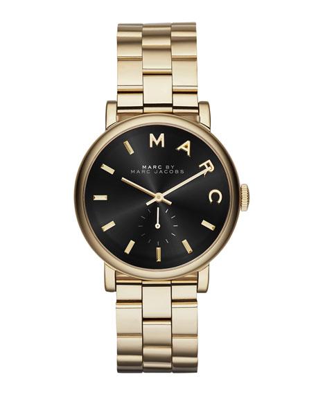 MARC by Marc Jacobs 36mm Baker Bracelet Watch, Golden/Black