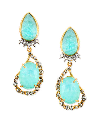 Gilded Muse d'Ore Pear/Oval Clip-On Earrings