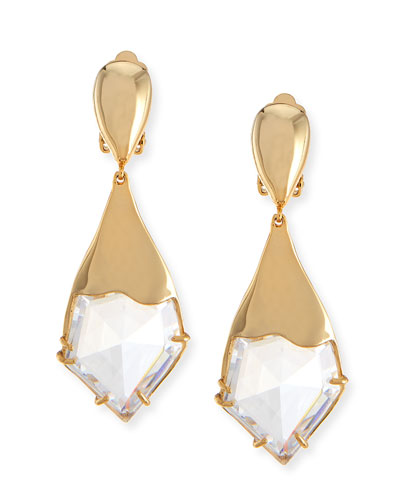 Miss Havisham Fancy Kite Clip-On Earrings, White