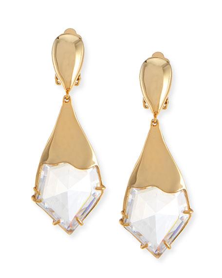 Miss Havisham Fancy Kite Clip-On Earrings, White