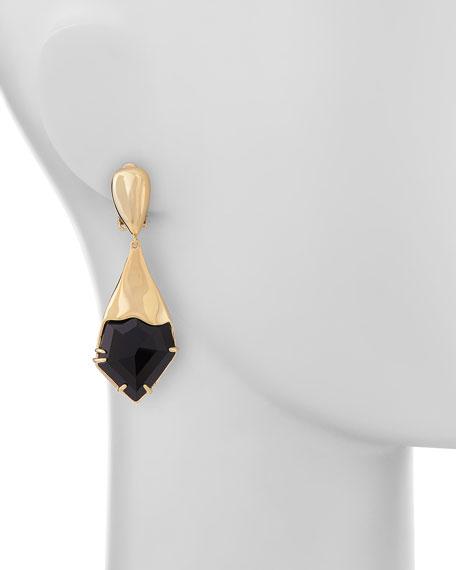 Miss Havisham Fancy Kite Clip-On Earrings, Black