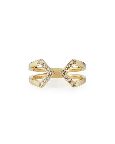 Elizabeth and James Kuril 23k Gold-Plate V-Tip Ring