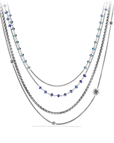 Starburst Chain Necklace with Iolite and Blue Topaz