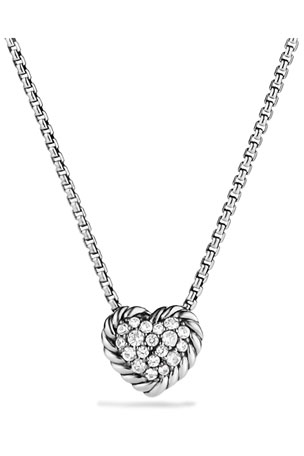 David Yurman Chatelaine Heart Pendant Necklace with Diamonds