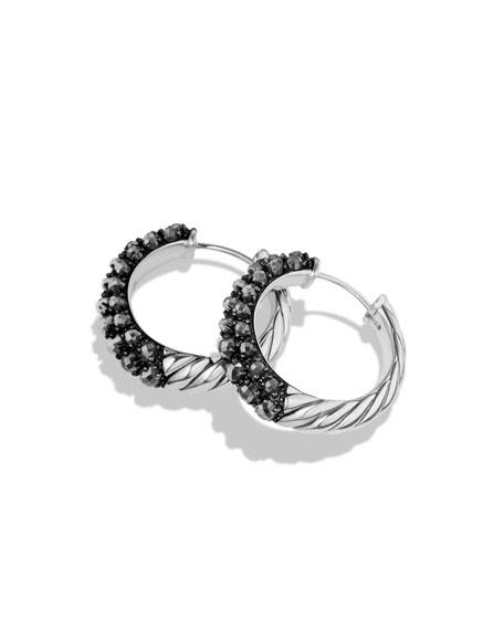 Osetra Hoop Earrings with Hematine