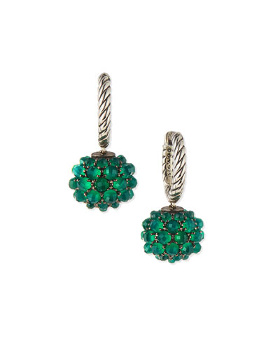 Earrings with Green Onyx