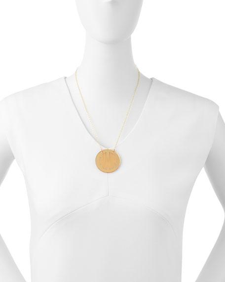 Mirrored Acrylic Reverse Monogram Pendant Necklace