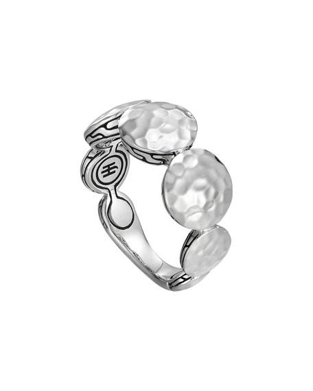 Palu Silver Round Disc Ring