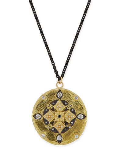 Diamond Shield Pendant Necklace, 30