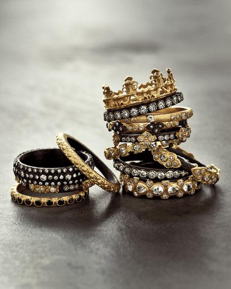 Armenta 18k Gold & Midnight Diamond Crown Ring