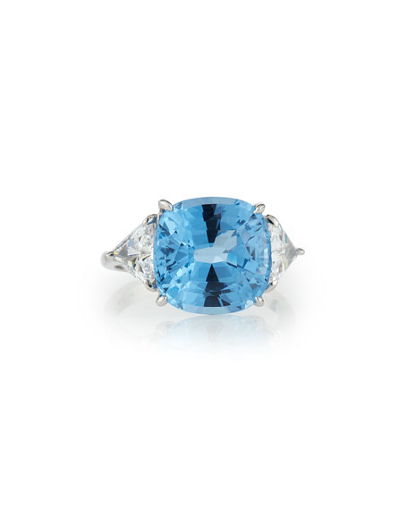 Cushion-Cut Cubic Zirconia Ring, 13 TCW