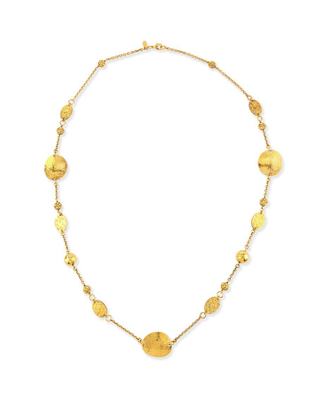 Jose & Maria Barrera 24k Gold-Plated Disc Necklace