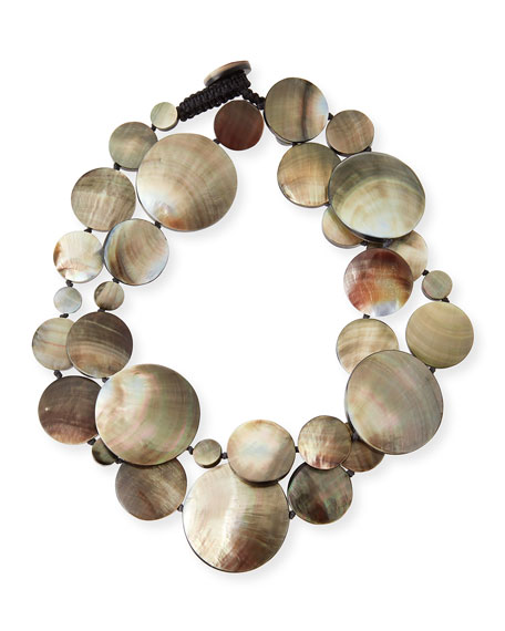 Long Shell Disc Necklace