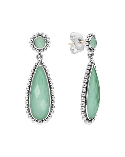 Silver Maya Variscite Teardrop Earrings