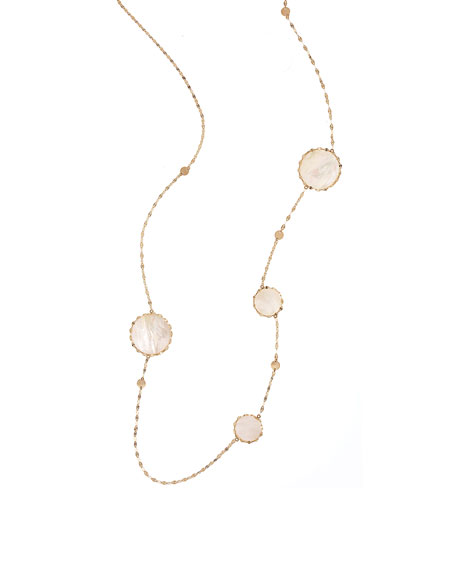 Lana Blanca Long Disc-Station Necklace
