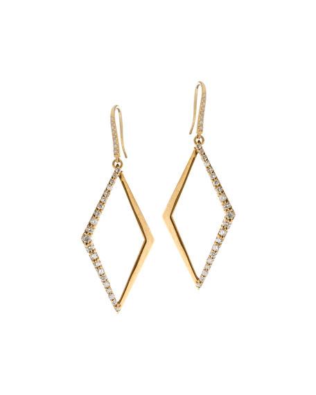 14k Small Diamond Hoop Earrings